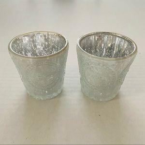Ashland | Mercury Glass Fleur-de-lis Votive Candle